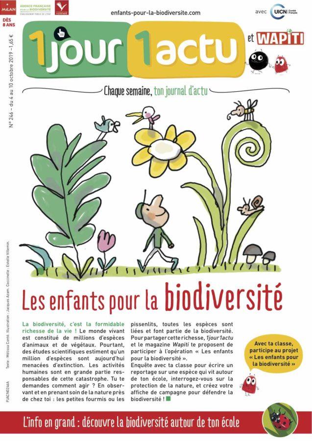 Couverture 1jour1actu biodiversité